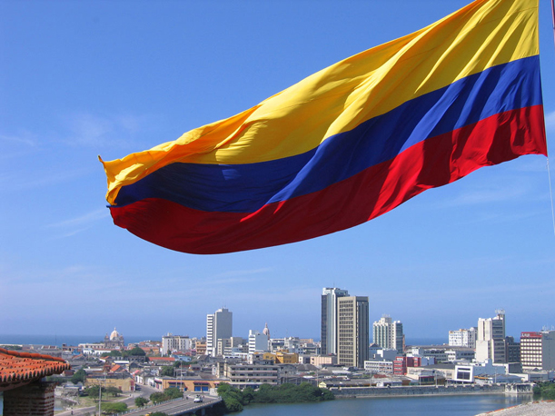 Colombian Flag over Cartagena