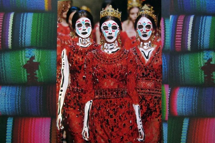 Tres mujeres de Dia de los Muertos