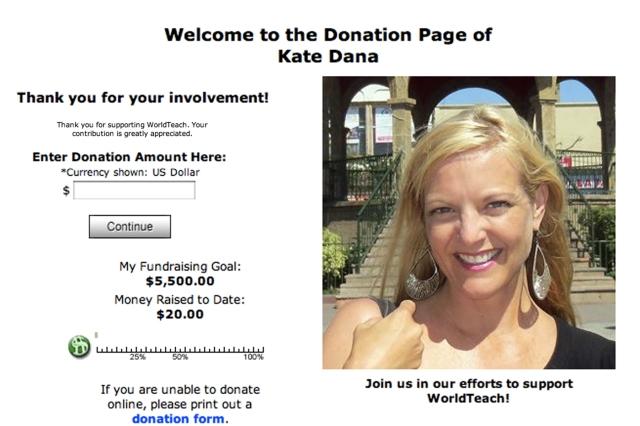 WorldTeach Donation Page