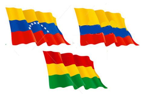 Venezuela, Colombia y Bolivia