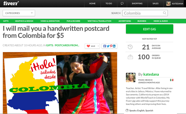 my first Fiverr.com campaign