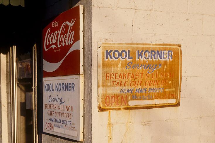 menu de Kool Korner