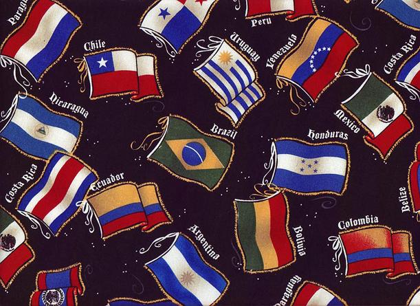 Latin Flags fabric