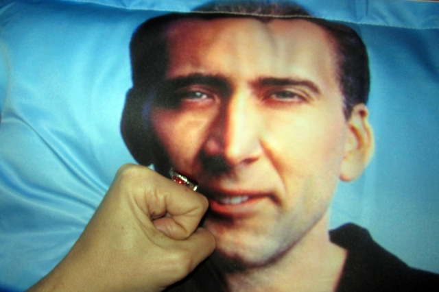 Nic Cage pillow