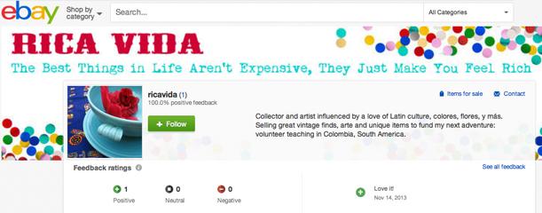 Rica Vida on Ebay