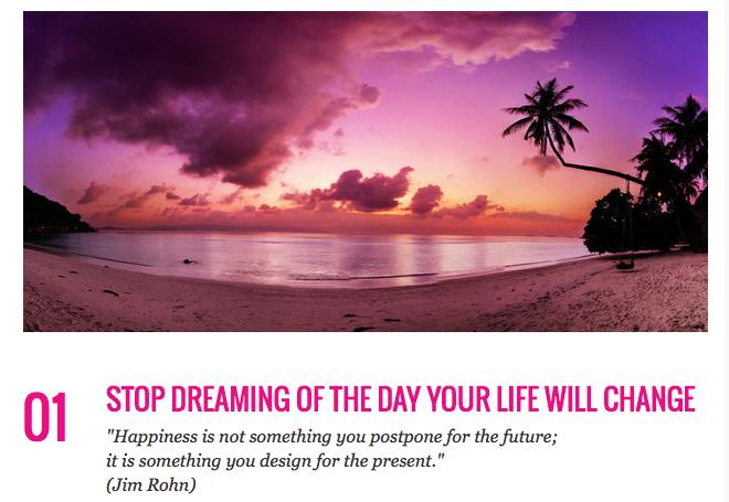Stop Dreaming. Start doing!