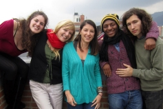Costeño group: Shauna, KD, Becky, Ashley and Frank