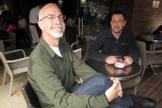 Michael and Jordan at Juan Valdez