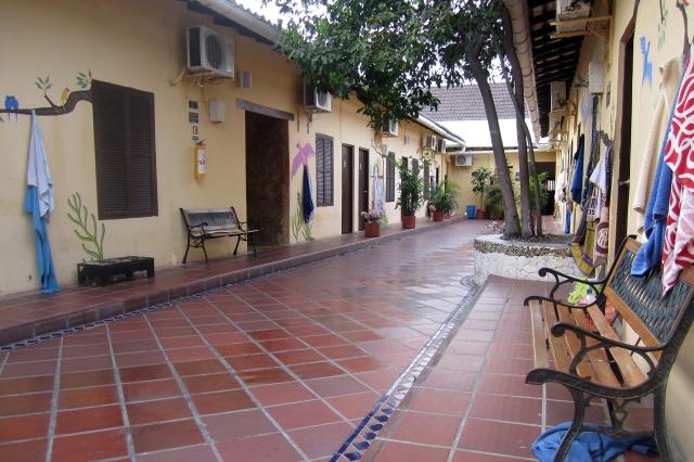 Hostel courtyard
