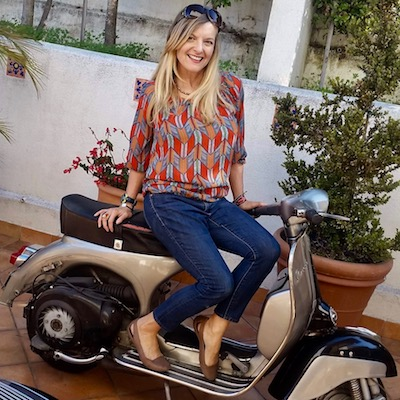 image of  Kate Dana and 1966 Vespa
